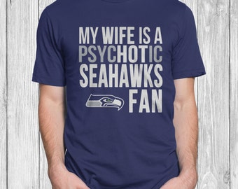 Seattle Seahawks Tshirt for Men Navy Blue Small - XX Large