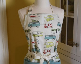 Vintage Camper Apron USA Made Apron Womens Apron Glamping Apron Cute Apron