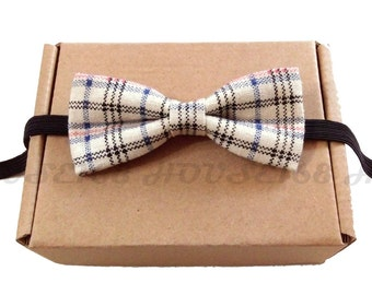 Plaid Bow Tie Kids Bow Tie Children Bow Tie Boys Bow Tie Wedding Bow Tie, Bowtie, Pre-tied and Adjustable