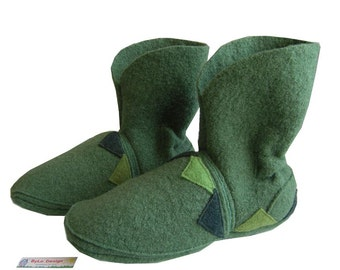 man house slipper, woman, house slippers, booties, boots, shoes, slippers, push, bathrobe, slippers, men, women, green,