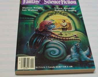 Magazine of Fantasy and Science Fiction F&SF April 1986 Paperback Book