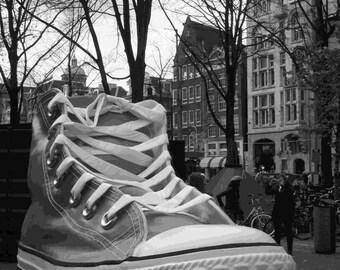 All star, Converse, sneaker, art Amsterdam, Street Art