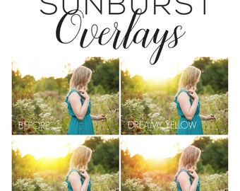 Overlays - Sunburst Overlays for Photoshop, Gimp, or Any Program with Layers - Sun Overlays