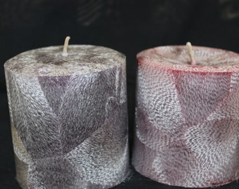 Palm Wax Round Pillar Candles,