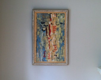 mid century abstract serigraph