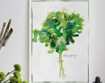 Kitchen Herb Print - Parsley