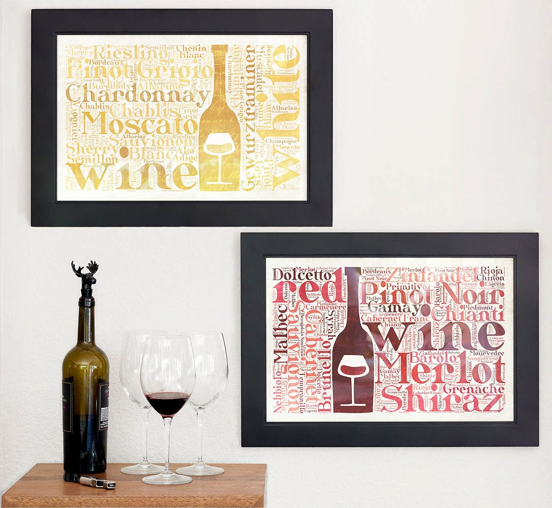 Wine wall art kitchen decor wine prints wine by for Art prints for kitchen wall