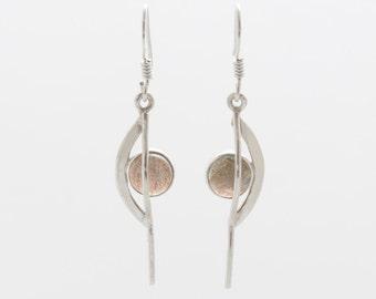 Labradorite Earrings - Silver Earrings - Dangle & Drop Earrings - Gemstone Earrings - Labradorite Silver Earrings - Handmade Earrings
