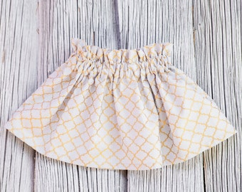 Gold skirt Baby girl skirt Little girl skirt Twirl skirt Baby skirt Grey skirt Elastic skirt Toddler skirt Ruffle skirt