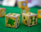 cactuari Dice | oversized Final Fantasy-themed Cactuar wooden dice, set of Two featured image