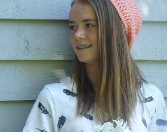 Pretty-in-Pink Slouch Hat