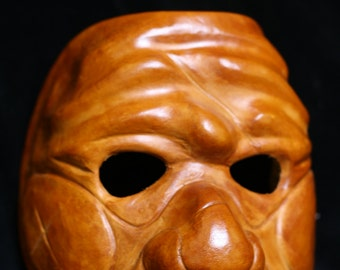 Leather Zanni / Servant Commedia Mask