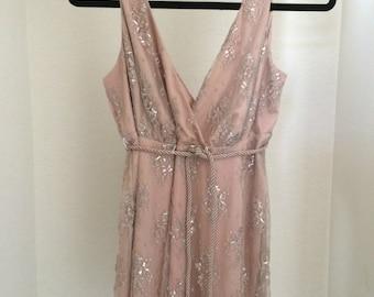 Pink Lace Grecian Minidress size Small