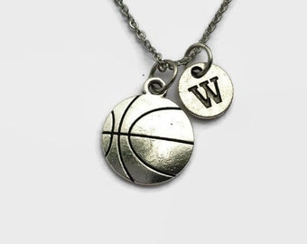 Basketball - Basketball Necklace - Basketball Player Gift - Basketball Coach - Coach Gift - Valentines Day - Gift for Mom - Charm
