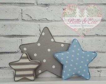Set of 3 Fabric Stars