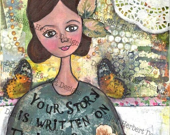 Mixed Media Collage Art Giclee Print - Your Story