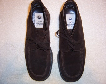 Men's Carlo Morandi Italian Suede Ankle Boots