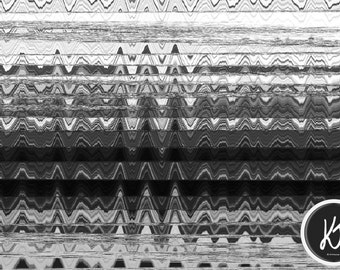 "Zigzag Melt Print (12""x8"")"