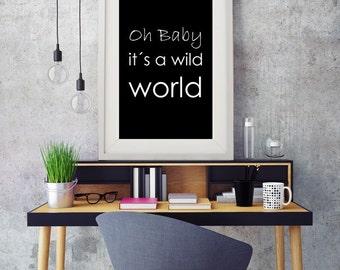 Print wild world