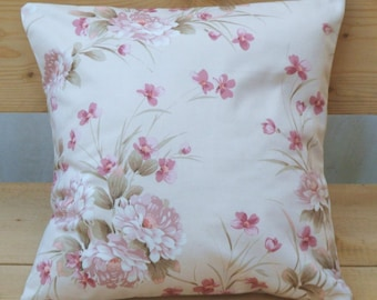 Pillow floral pink cotton cover