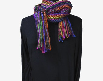 Colour of gems handwoven scarf