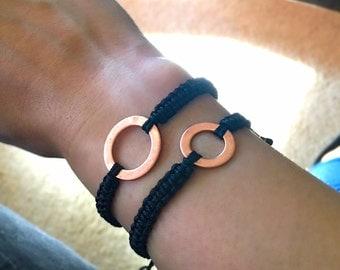 Copper Wish Bracelet - Black Diamond