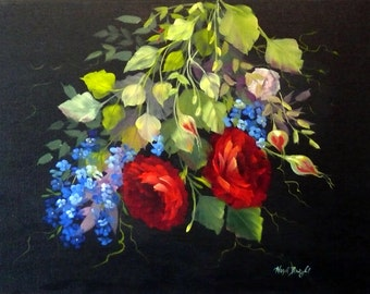 Roses are Red...; 18x24; Oil on Canvas