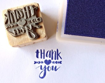 Tank you stamp, two different sizes,  Thank you, stamp for brand, stamp for tags, laser cut