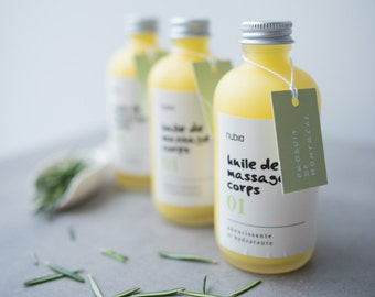 Massage oil organic no01 - Rosemary. 120 ml