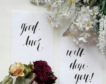 Handwritten Greeting Card