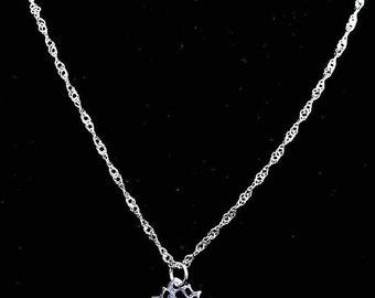 Lotus flower necklace.