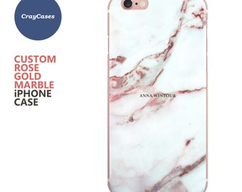 Custom Name Marble Phone case, personalised marble iPhone 6s case, 6 Plus, 6, 6s Plus, iPhone 7 case, cell phone cover (Shipped From UK)