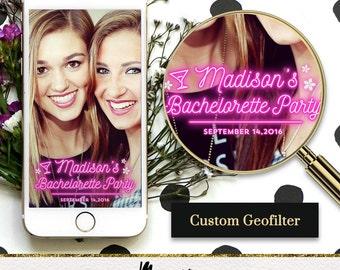 Custom Snapchat Geofilter Neon Sign Style / Birthday, Wedding, Bachelorette, Bridal Shower, Celebration, Congratulations / Perfect Gift