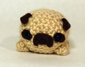 Cute Crochet Pug Amigurumi Plush