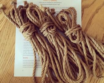 1 x 7.5m Hand Treated Japanese Asanawa Shibari Ropes