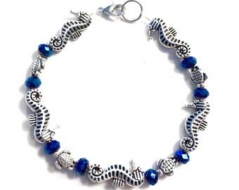 Women's Silver Seahorse Bracelet