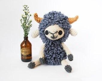 Crochet Ram – stuffed animal toy for children, handmade to order