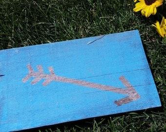 Rustic Blue Arrow