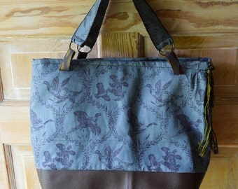 Pheasant and duck tote bag