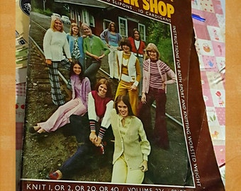 1973 Spinnerin Sweater Shop Knitting Pattern Book OOP