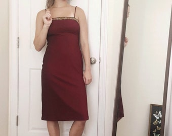 90s Charlotte Russe Deep Red Dress