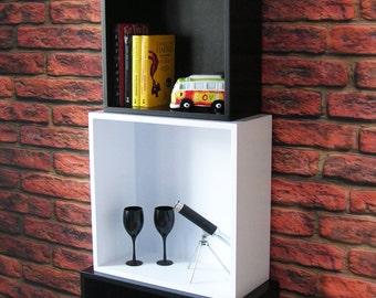 Modern Grandfather Clock / Bookcase / Shelving Unit / Cube Shelves