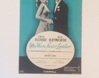 Vintage 1940s music sheet from film You were never lovelier