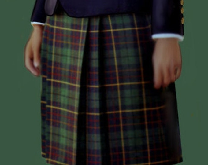 Women's kilt, medium size (44) PDF file pattern in two different paper format, A4 and A0