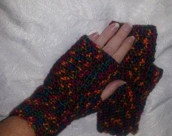 Fingerless gloves, acrylic, fingerless mittens, driving gloves, driving mittens, texting, texting mittens, typing gloves, typing mittens