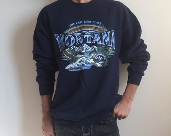 Vintage Montana State Sweatshirt - L