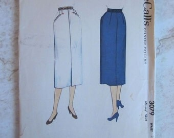 McCalls 3079 Slim Skirt 1954 Pattern Uncut