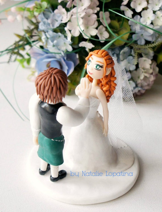 wedding cake toppers personalized figurines wedding cake topper scotland personalized figurines and 26575