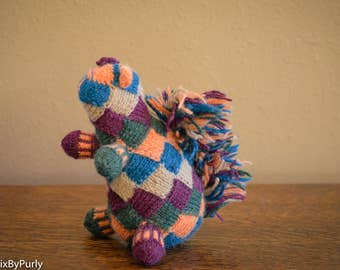 Squirrel - Knit Squirrel - Hand Knit Animal