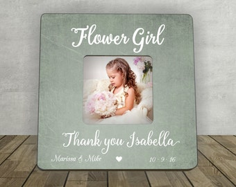 Gift for Flower Girl, Flower Girl Thank You, Bridal Party Gift, Personalized Picture Frame, Flower Girl Gift, Thank You, Personalized Gift